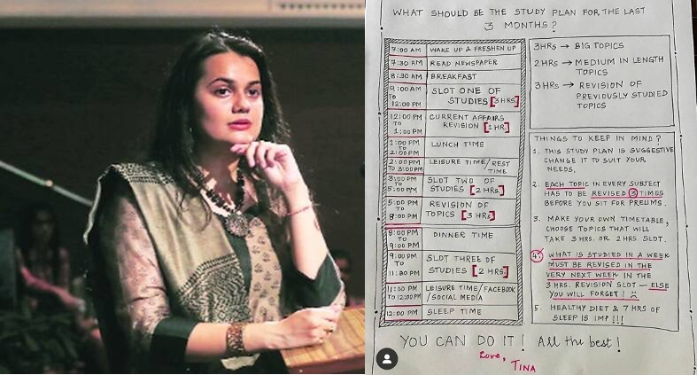 Tina Dabi Timetable for UPSC Preparation